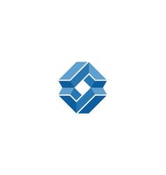 3d letter a and v logo design concept vector image