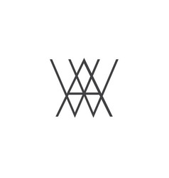 A w letter logo lettermark aw monogram elegant lux vector