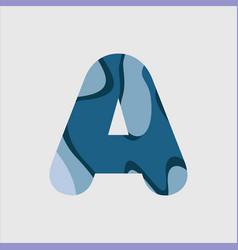 A water font template design vector