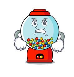 angry gumball machine mascot cartoon vector image