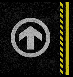 asphalt road sign vector image
