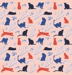 background with colorful cats vector image