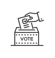 ballot box - line design single isolated icon vector image