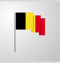Belgium waving flag creative background vector