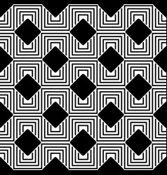 black labyrinth pattern vector image