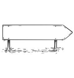 blank empty road arrow sign drawing vector image