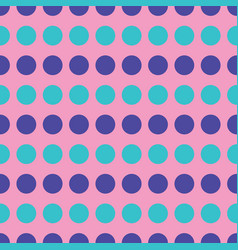 blue and turquoise circles on pink background vector image