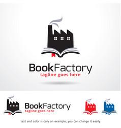 Book factory logo template vector