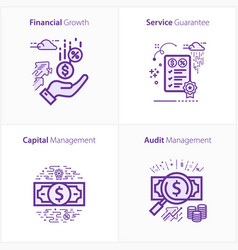business and finance icon set financial growth vector image
