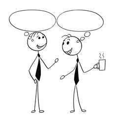cartoon of two men male business people talking vector image