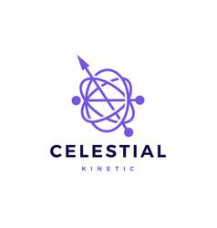 Celestial orbital kinetic pendulum logo icon vector