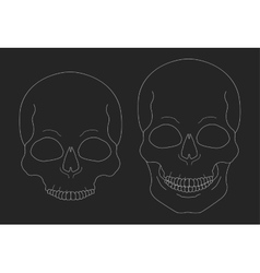 Chalk skull clip art vector