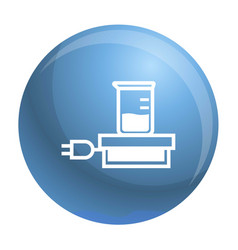 chemical beaker icon simple style vector image