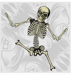 Dancing skeletonhand drawing vector