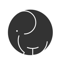 Elephant symbol icon wild animal black silhouette vector
