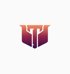 Esport logo letter t with luxury design perfect vector
