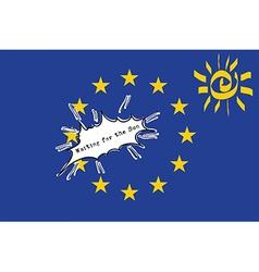 EU Flag - Waiting for the Sun vector