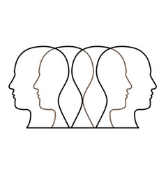Figure contour humans icon vector