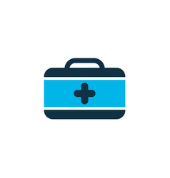 first aid kit icon colored symbol premium quality vector image