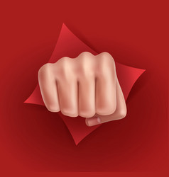 Fist punching paper vector