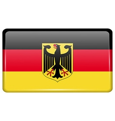Flags Germany in the form of a magnet on vector image