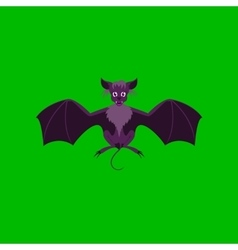 flat on background of cute bat vector image