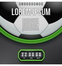 Football Coming Soon and countdown timer vector image