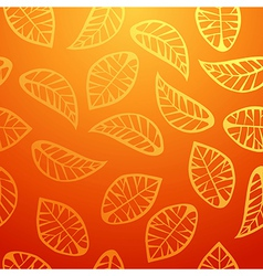 Fresh orange leaves pattern vector image