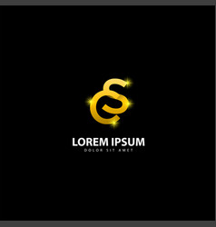 Gold letter s logo sc letter design with golden vector