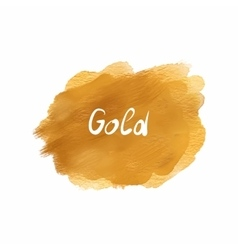 gold stain acrylic watercolor isolated on white vector image
