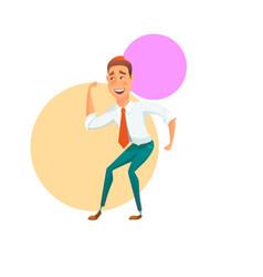 happy dancing office worker vector image vector image