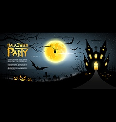 Happy Halloween scary background vector image