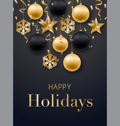 happy new year 2019 card design realistic vector image