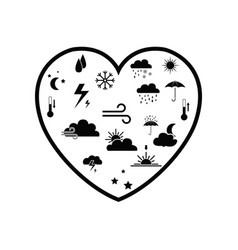 heart weather concept vector image