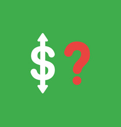 icon concept of dollar with arrows moving up down vector image