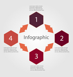 Infographic diagram number vector