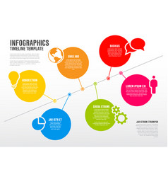 infographic timeline schema template vector image