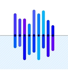 Infographics with asymmetric blue overlapping bars vector image