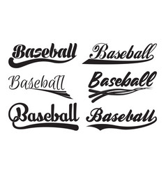 inscription baseball with swooshes vector image