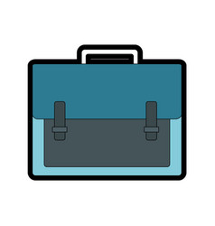 isolated suitcase design vector image