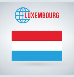 Luxembourg flag isolated on modern background vector
