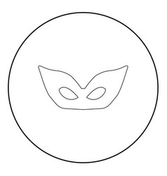 mask the black color icon in circle or round vector image