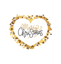 merry christmas inscription winter lettering sign vector image