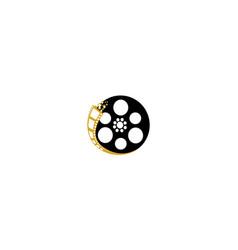 movie reel logo icon vector image