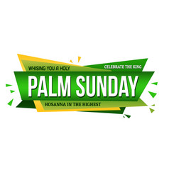 palm sunday banner design vector image