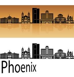 Phoenix skyline in orange vector image vector image