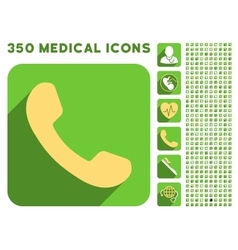 Phone Receiver Icon and Medical Longshadow Icon vector