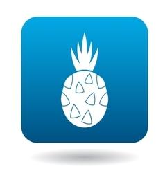 Pitaya dragon fruit icon in flat style vector