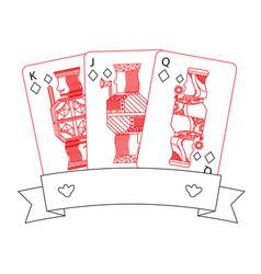 Poker casino jack queen king card gambling banner vector