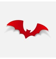 realistic design element bat vector image
